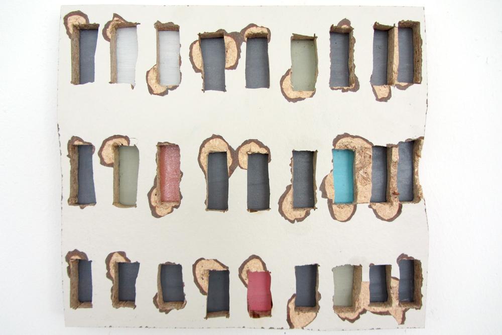 Ohne Titel, 2012, Pressspan, Leinwand, Ölfarbe, 60cm x 40cm