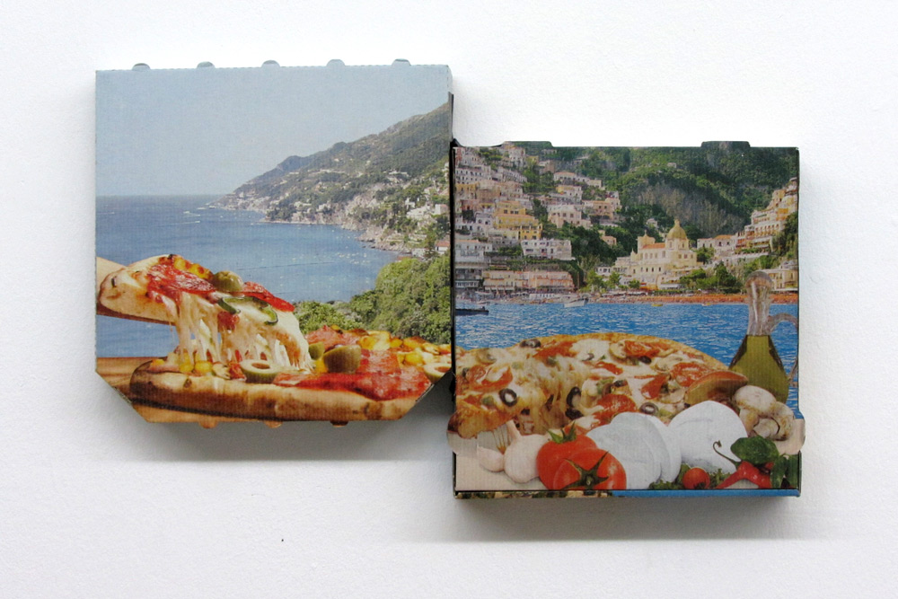 Pizza Combinazione, 2013, Pizzakartons, 30cm x 30cm