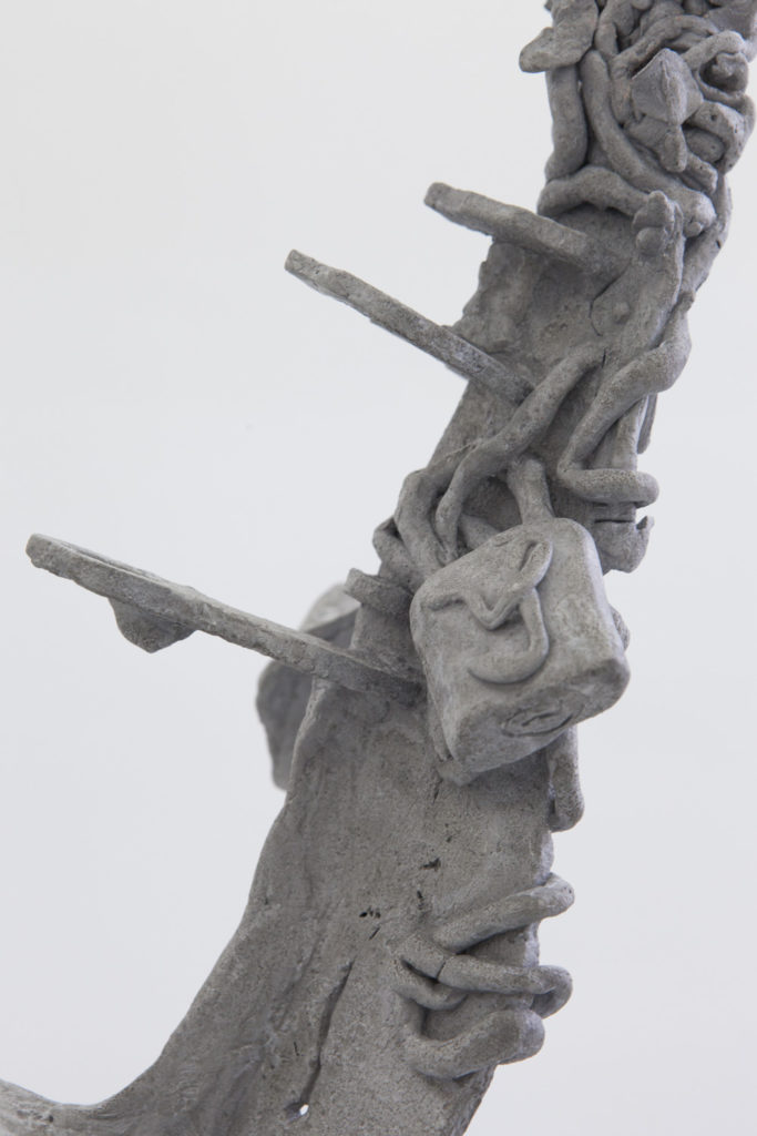 Sehnsuchtshilfe, 2019, Aluminium, 200x155x35 cm