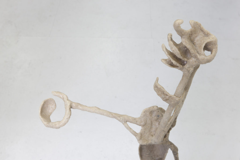 Betrachtungshilfe, 2017, Kunststoffgemisch, Holz, 97x 50x 17cm