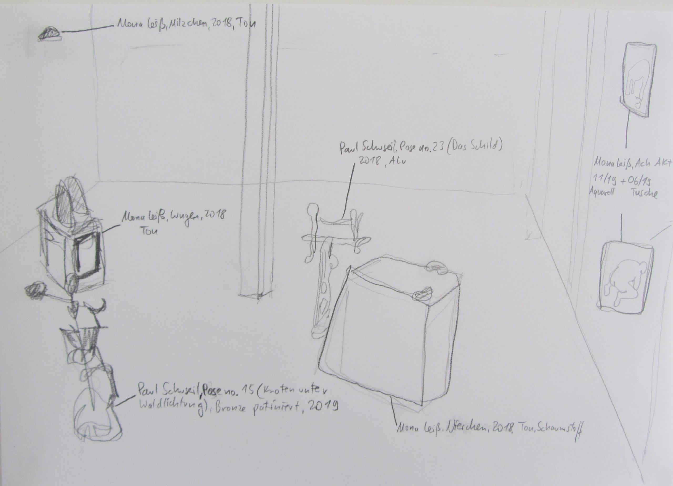 Ausstellung von Mona Leiß + Paul Schuseil, Alte Waggonfabrik Dez 2019