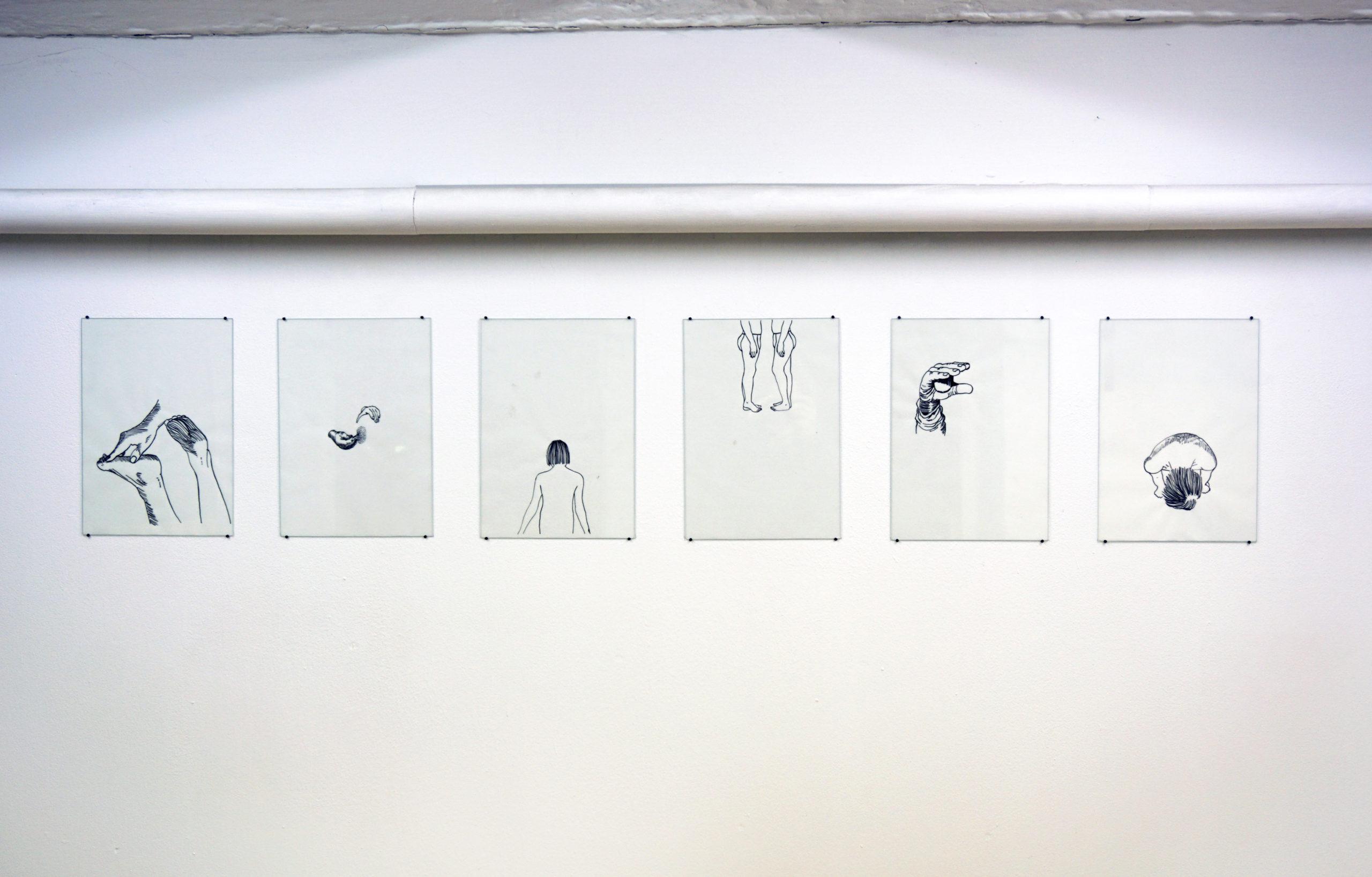 Mona Leiß - Ortho, 2019, Tusche auf Pergamentpapier