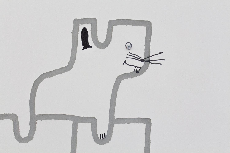 Saniflairarium, 2021, Spanplatte, Fugenmörtel, Silikon, Seife, Holz,Draht, Plexiglas, WC-Papier, Kunstblumen, Centmünzen, Edding, Parfüm, Zucker, Kleintiertränke, Kunststoff, Lack, Powerade, Spachtelmasse, Streu200 x 260 x 215 cm